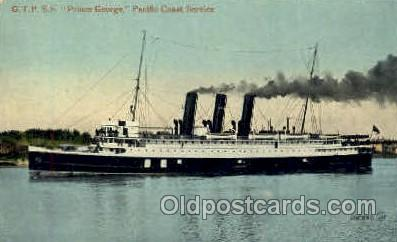 shi008517 - GTP SS Prince George Pacific Coast Service Steamer Ship Postcard Postcards
