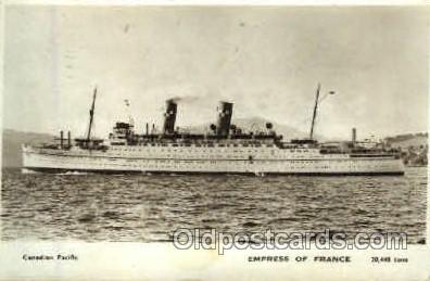 shi008520 - Empress of France Steamer Ship Postcard Postcards