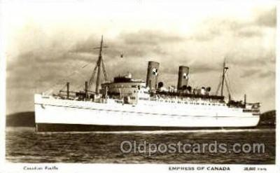 shi008521 - Empress of Canada Steamer Ship Postcard Postcards