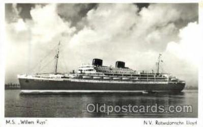 shi008532 - M.S. Willem Ruys Steam Ship Postcard Postcards