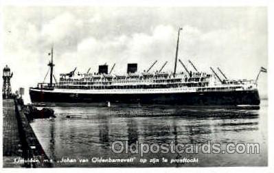 shi008542 - Johan Van Oldenbarnevelt Steam Ship Postcard Postcards