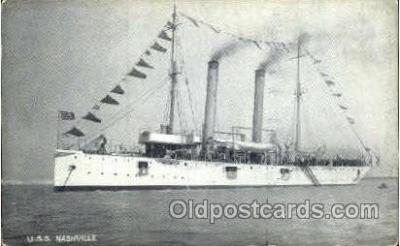 shi008546 - U.S.S Nashville Steam Ship Postcard Postcards