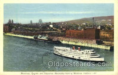 shi008555 - Quebec & Saguenay Steamship Steam Ship Postcard Postcards