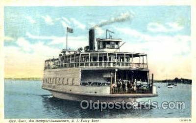 shi008573 - R.I. Ferry Boat Steam Ship Postcard Postcards