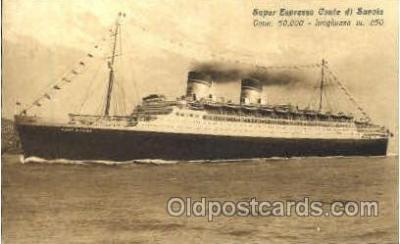 shi008604 - Super Espresso Conte di Savoia Steam Ship Postcard Postcards