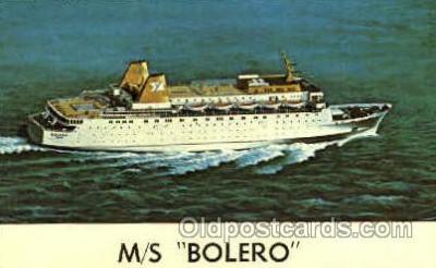 shi008618 - M/S Bolero Steam Ship Postcard Postcards