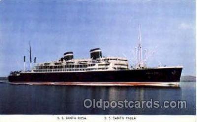 shi008634 - S.S. Santa Rosa Steam Ship Postcard Postcards