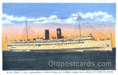 shi008636 - S.S. Yale Steam Ship Postcard Postcards
