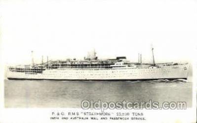 shi008654 - RMS Strathmore, India & Australia Mail Service Steamer Ship Ships Old Vintage Postcard Postcards