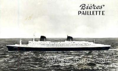 shi008677 - Bieres Paillette Steamer Ship Ships Old Vintage Postcard Postcards