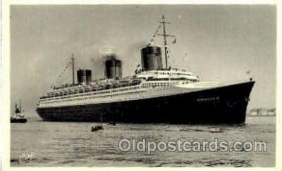 shi008681 - French Line, SS Normandie Steamer Ship Ships Old Vintage Postcard Postcards