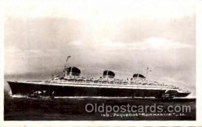 shi008682 - French Line, SS Normandie Steamer Ship Ships Old Vintage Postcard Postcards