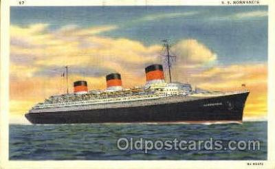 shi008683 - French Line, SS Normandie Steamer Ship Ships Old Vintage Postcard Postcards