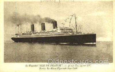 shi008688 - Ile De France, French Line Steamer Ship Ships Old Vintage Postcard Postcards