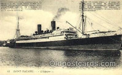 shi008691 - Saint Nazaire Steamer Ship Ships Old Vintage Postcard Postcards