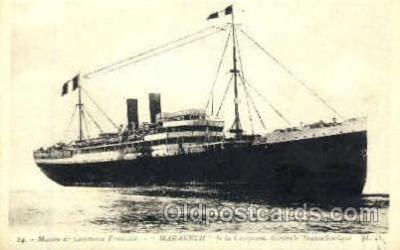 shi008692 - Marakech Steamer Ship Ships Old Vintage Postcard Postcards