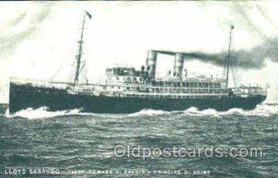 shi008714 - Lloyd Sabaudo Steamer Ship Ships Old Vintage Postcard Postcards