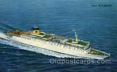 shi008718 - Home Lines MV Atalntic Steamer Ship Ships Old Vintage Postcard Postcards