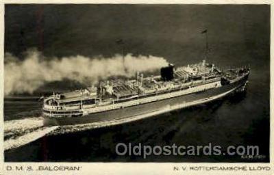 shi008722 - DMS Baloeran, NV Rotterdamsche Lloyd Steamer Ship Ships Old Vintage Postcard Postcards