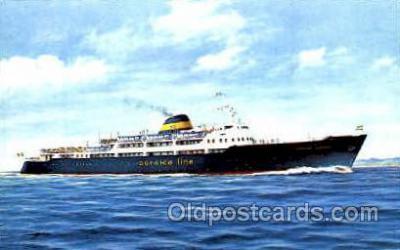shi008726 - M/V Corsica Express Steamer Ship Ships Old Vintage Postcard Postcards