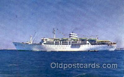 shi008728 - Isreal Navigation Co, M.S. Moledet Steamer Ship Ships Old Vintage Postcard Postcards
