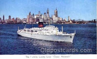 shi008737 - Ocean Monarch Steamer Ship Ships Old Vintage Postcard Postcards