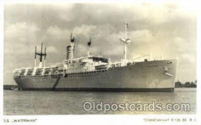 shi008742 - SS Waterman Steamer Ship Ships Old Vintage Postcard Postcards