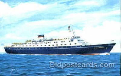 shi008750 - MS. Stella Maris, Sun Line Steamer Ship Ships Old Vintage Postcard Postcards