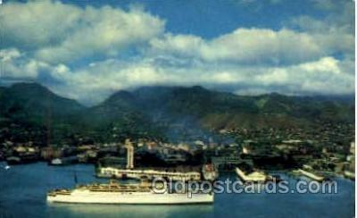 shi008757 - Lurline Bidding Aloha to the Paradise of the Pacific Steamer Ship Ships Old Vintage Postcard Postcards