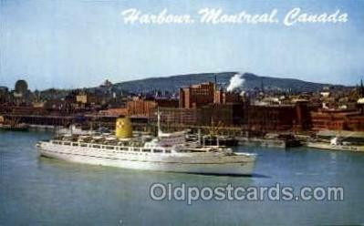 shi008758 - Montreal Harbour, Canada Steamer Ship Ships Old Vintage Postcard Postcards