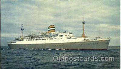 shi008759 - SS Maasdam Steamer Ship Ships Old Vintage Postcard Postcards