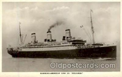 shi008777 - Hamburg-American Line SS Reliance Steamer Ship Ships Old Vintage Postcard Postcards