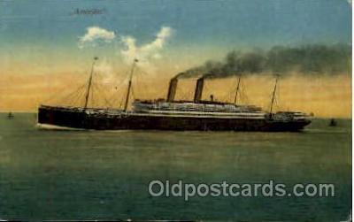shi008781 - Amerika Steamer Ship Ships Old Vintage Postcard Postcards