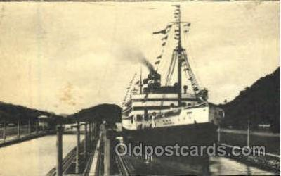 shi008785 - Turbo Electric Virginia of the Panama Pacific Line Steamer Ship Ships Old Vintage Postcard Postcards