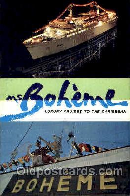 shi008790 - MS Boheme Steamer Ship Ships Old Vintage Postcard Postcards