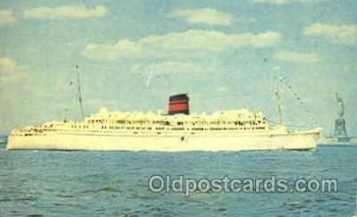 shi008809 - Q.T.E.V. Queen of Bermuda Steamer Ship Ships Old Vintage Postcard Postcards