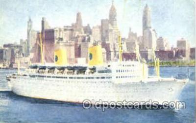 shi008817 - Swedish American Line MS Gripsholm Steamer Ship Ships Old Vintage Postcard Postcards