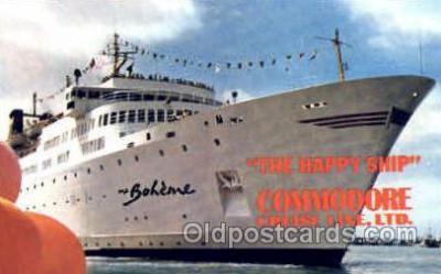 shi008831 - Commodore Cruise Line MS Boheme Steamer Ship Ships Old Vintage Postcard Postcards