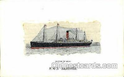 shi008840 - R.M.S. Saxonia Steamer Ship Ships Old Vintage Postcard Postcards