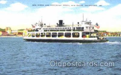 shi008845 - Coronado Ferry, San Diego, CA, USA Steamer Ship Postcard Postcards