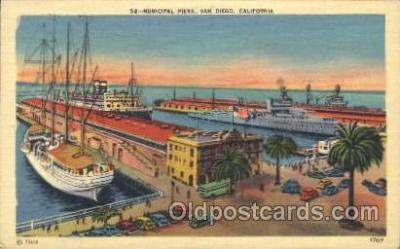 shi008900 - Municipal Piers San Diego California,USA Steamer Ship Ships Postcard Postcards