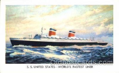 shi008919 - S.S. United States Steamer Ship Ships Postcard Postcards