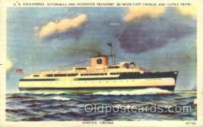 shi008957 - S.S. Pocahontas Steamer Ship Ships Postcard Postcards