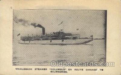 shi008958 - Columbus Steamer Ship Ships Postcard Postcards