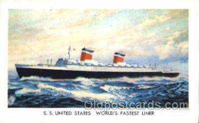 shi008959 - S.S. United States Steamer Ship Ships Postcard Postcards