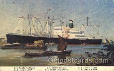 shi008964 - Grace Line Steamer Ship Ships Postcard Postcards