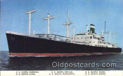 shi008965 - Grace Line Steamer Ship Ships Postcard Postcards