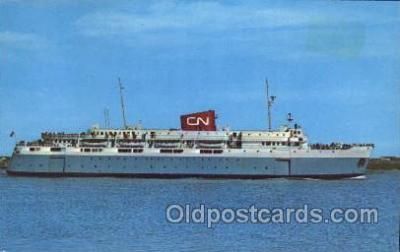 shi008975 - M.V. Bluenose, Internaltional Link Between Bar Harbor, Me USA and Yarmouth, N.S., Canada Steamer Ship Ships Postcard Postcards
