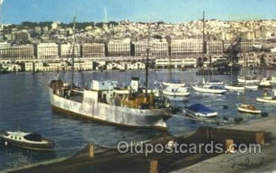 shi008976 - Alger, The Port and the Town Steamer Ship Ships Postcard Postcards