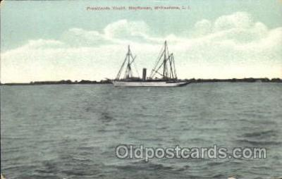shi008981 - President Yacht, Mayflower, Whitestone, L.I., USA Steamer Ship Ships Postcard Postcards